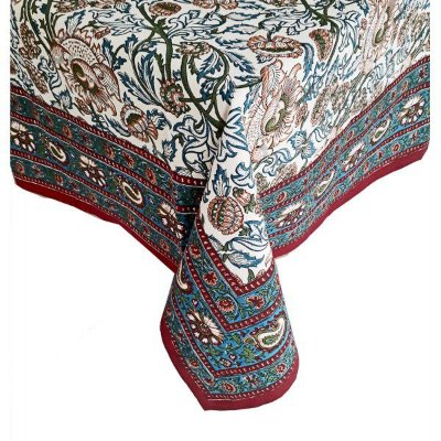 Toalha de mesa floral indiano 1,80 x 2,60m