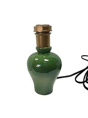 Mini base de abajur verde