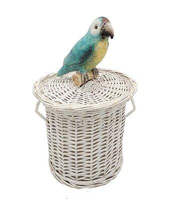 Lixeira papagaio colorido zanatta