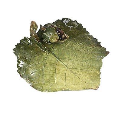 Prato pão folha de uvas com cacho de uvas (cj c 2)