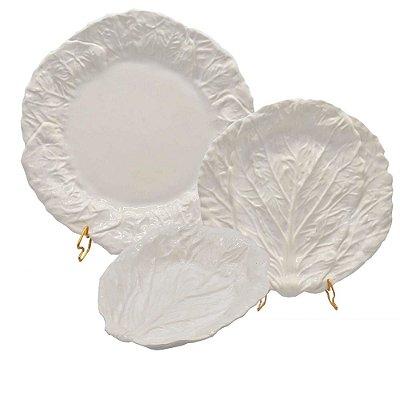 Trio pratos acelga branca