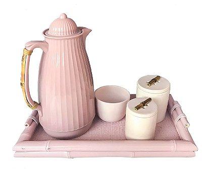 Kit higiene rosa para bebê