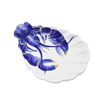 Mini petisqueira concha com lagosta azul