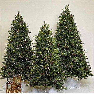 Árvore de natal pré-montada click 2,40 m altura