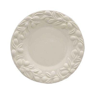 Sousplat azeitonas off white