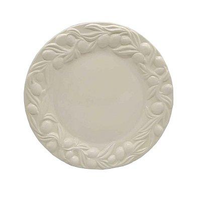 Prato raso azeitonas off white