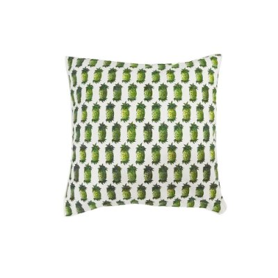 Capa de Almofada Abacaxi Verde 48x48 cm