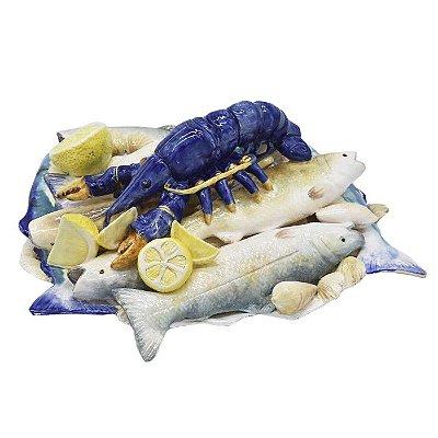 Enfeite de sardinha, lagosta e limão