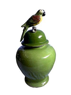 Potiche Pássaro Verde