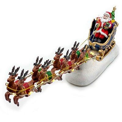 Brinquedo de natal papai noel trenó Ref: AC 845