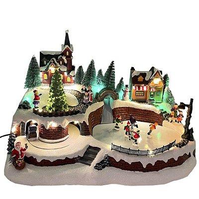 Brinquedo de natal vila com trenó Ref: AC 870