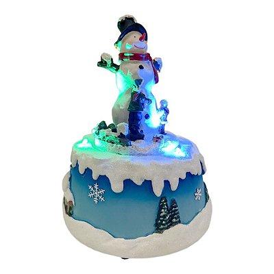 Brinquedo de natal boneco de neve giratório Ref: AC 903