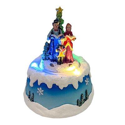 Brinquedo de natal giratório cantores Ref: AC 905
