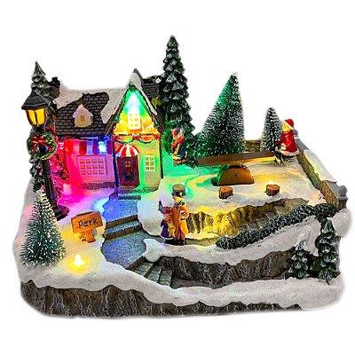 Brinquedo de natal casinha com lenha Ref: AC 858