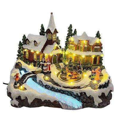 Brinquedo de natal vila com cantores Ref: AC 865