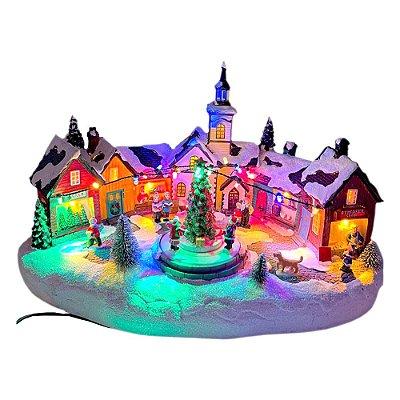 Brinquedo de natal vila natalina com árvore na praça Ref: AC 872
