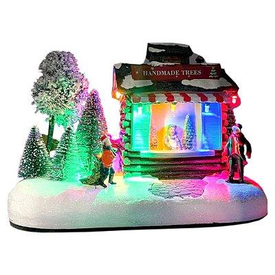 Brinquedo de natal casinha venda de árvores