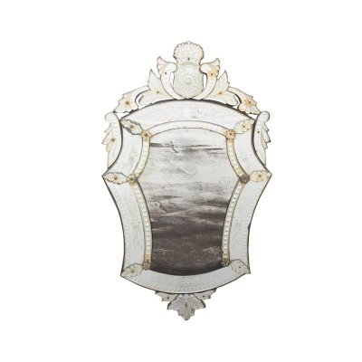 Espelho veneziano com brasão de DPedro II
