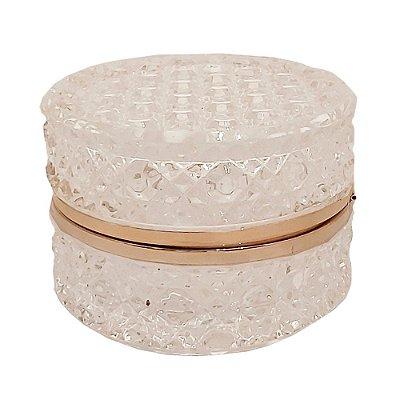 Caixa de cristal redonda