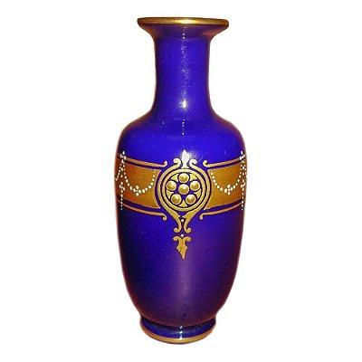 Vaso Baccarat opalina azul cobalto