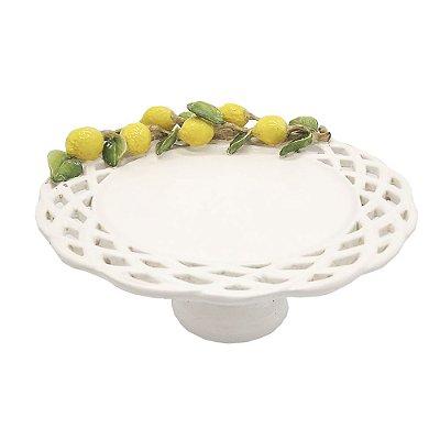 Boleira galho limão siciliano prato trança