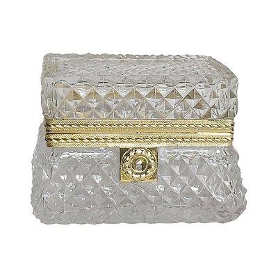 Caixa em cristal bico de jaca Baccarat século XIX