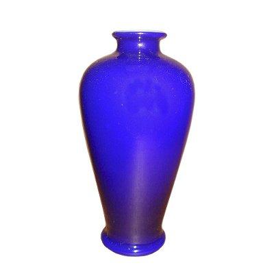 Vaso Baccarat opalina azul século XIX