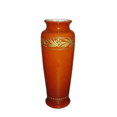 Vaso Baccarat opalina rouge de fer século XIX