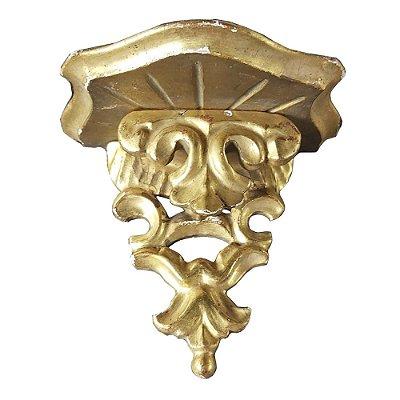 Peanha em madeira década 50 ouro brunhido