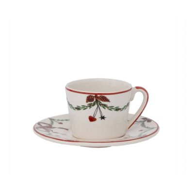 Xícara de chá guirlanda de natal (cj 2)