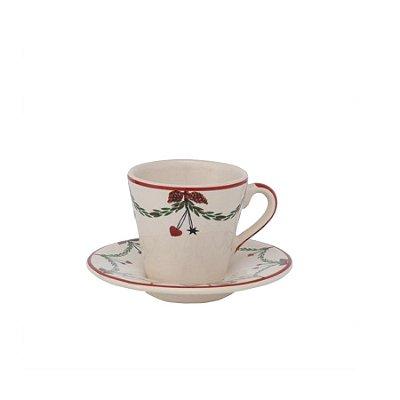 Xicara de café guirlanda de natal (cj 2)