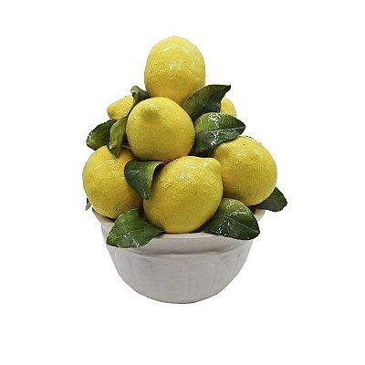 Fruteira branca de limões nova M