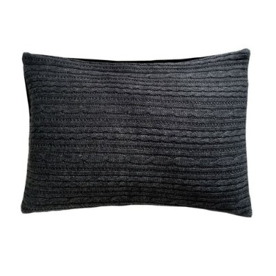 Capa de Almofada Tricot cinza escuro (rim)