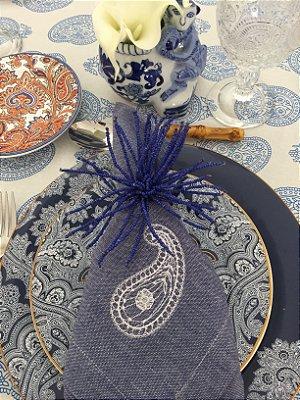 Guardanapo Azul Paisley