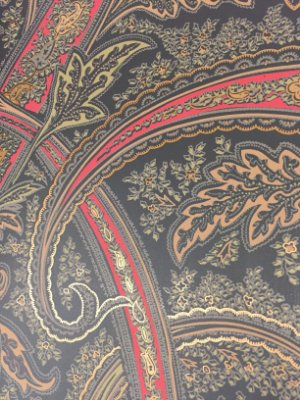 Papel de Parede Paisley (fundo preto)