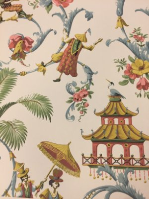 Papel Chinoiserie (fundo off white)