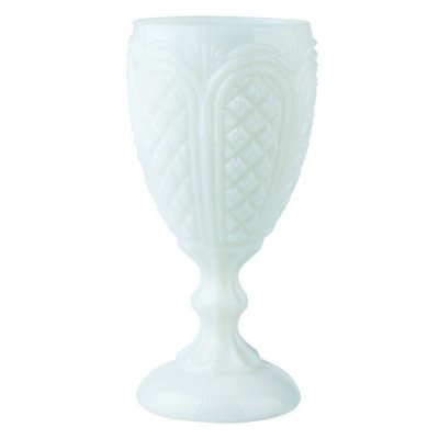 Taça Milk Glass/Opalina Branca (cj com 6)