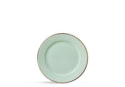 Prato escamas verde água (sobremesa)