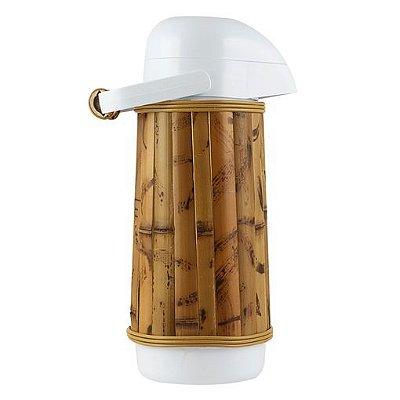 Garrafa Térmica Revestida de Bambu Natural G