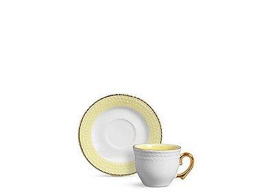 Xícara Chá Escamas Amarela