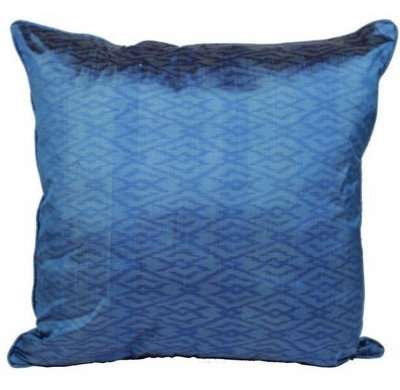 Almofada Tribal Azul Celeste Seda 48x48