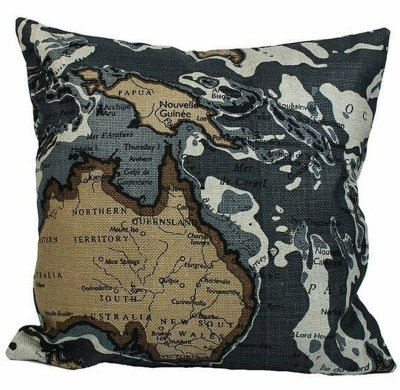 Almofada Mapa Austrália 48x48 cm