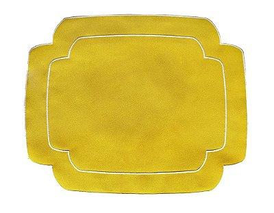 Jogo Americano Retangular Amarelo