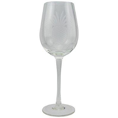 Taça de Vinho Lapidado Abacaxi (jogo com 6)