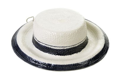 Chapéu com aba com tres listras azul Zanatta Casa