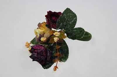 Porta Guardanapo Mini Rosas