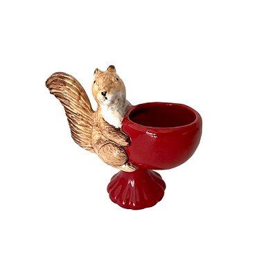 Vaso Esquilo Vermelho
