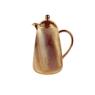 Garrafa Térmica em Porcelana Dourada