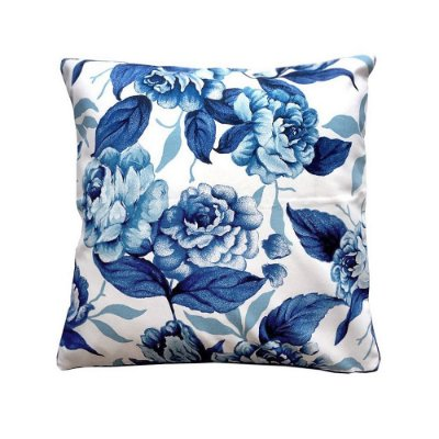 Capa de Almofada Rosas azuis 48x48 cm