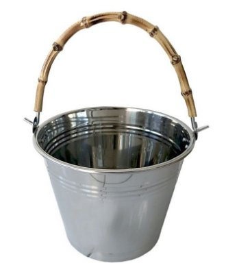 Balde Bebidas com Alça Bambu